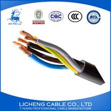 H05VV-F/RVV CU PVC insulated PVC sheathed 3*6+1*4sqmm electric wire
