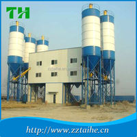 HZS25 mobile cement mixing station,concrete ready mix with 100ton cement silo for sale