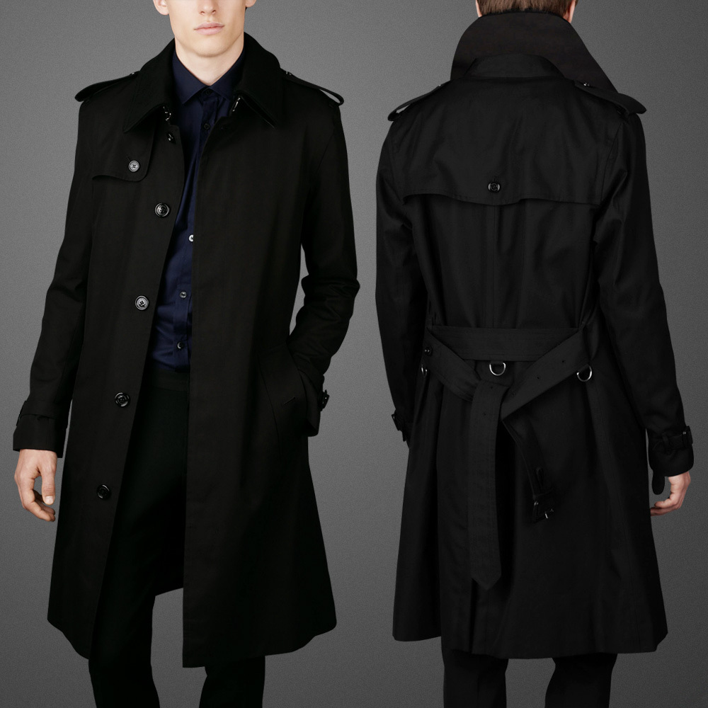 Images of Black Trench Coat For Men - Reikian