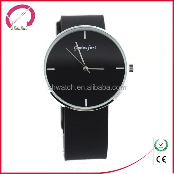 2015 quartz movement silicone watch strap