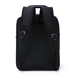 High quality black large space trolley laptop bag