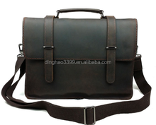 popular high quality briefcase bags online dongguan manufacture vintage european style leather business bags mens