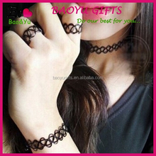 Cheap Handmade New Vintage Stretch Tattoo Necklace Gothic Punk Grunge Henna Elastic with Pendant Necklaces