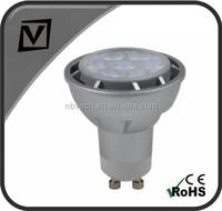 less 2$ 7w gu10 led spotlight, 580lm, die-cast aluminium housing, CE/RoHs approved