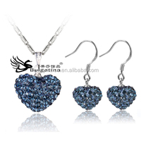 Dark Blue Rhinestone Jewelry Sets For Wedding,Party Jewelry Sets With Shinny Crystal Pave