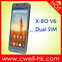 X-BO V6 Android 4.4 5.5 Inch QHD Touch Screen MTK6572 Dual Core 512MB 4GB 5MP 3G GPS Dual SIM Card Low Price China Mobile Phone