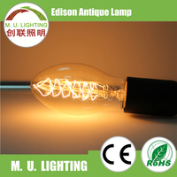 Vintage 25W 40W 60W BT75 edison bulb for indoor lighting
