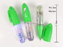 Liquid Floating roller pen LED with Shinning Color fluorescent paper