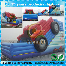 high quality inflatable fire truck slide