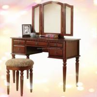 Makeup Dresser / Dressing Table Design With Mirror Wood Bedroom Furniture online