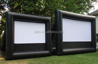 Giant inflatable rear projection movie screen