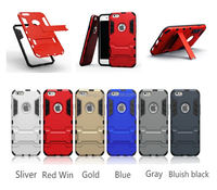 2015 Luxury hybrid hard TPU+PC for iphone 6 kickstand case china suppliers
