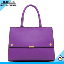 China manufacture new design pu leather women fashion simple style handbag 2015 trendy ladies bags with strap