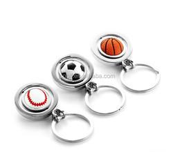 Wholesales football basketball golf ball fancy key ring