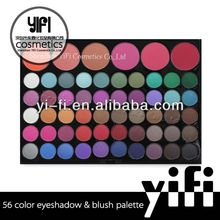 Professional manufacturer! 56 Color Makeup Palettes Eyeshadow + Glossy Blush high quality airtightness eyeshadow pen