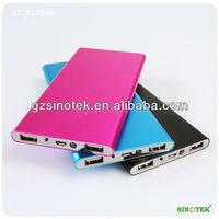 SINOTEK 10000mah cell phone power bank with flashlight dual usb battery power banks