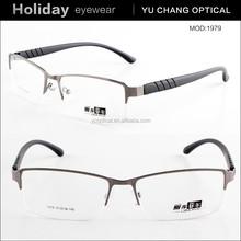 2015 latest hot sale Men half-rim memory metal eyewear spectacle frames eyeglasses China wholesale