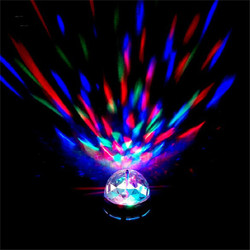 Chile market Extension RGB Rotating Lamp with color box made in China