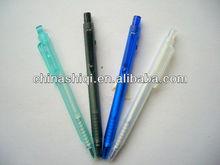 high quality slim min plastic transparent click ballpoint pen