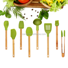 Fresh Silicone Kitchen Cooking Utensils With Bamboo Handle Of Cooking utensils With FDA LFGB Certification
