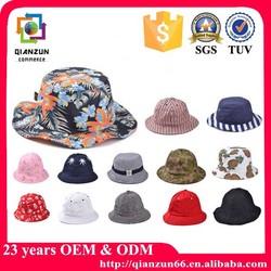 Custom fashion cotton free pattern children bucket hat