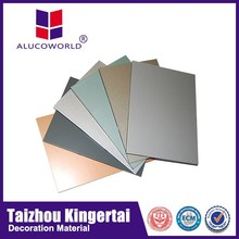 Alucoworld newly design world wide aluminum sandwich plate wall claddings