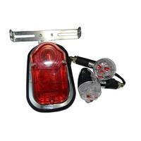 BJ-LPL-016 Customized Skull Red Eye Motorbike Turn Signal Tail Light For Chopper
