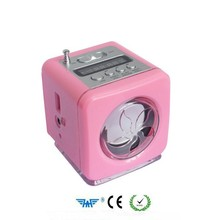 Portable Mini FM radio Card Reader Speaker With FlashLight sound box speaker