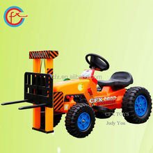 high quality plastic drivable forklift electric kids toy car 516