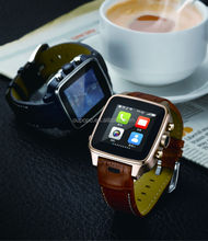 on sale GSM smart watch phone W02 with Android 4.2.2 OS bluetooth