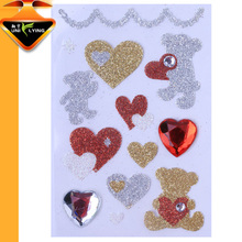 Shenzhen Manufacture OEM Acrylic Glitter Rhinestone Sticker