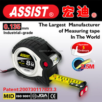 assist measuring tape series 49 metal steel tape measure wholesale construct tool with LED light