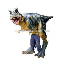 dinosaurio mecánico de vestuario para mostrar el resultado de los dinosaurios