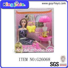 encantadora muñeca de moda juguetes de niñas