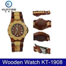 wholesale 2015 wood watch and man wooden watch in antique wood clock
