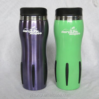 wholesale double wall Ribbed stainless steel tumbler