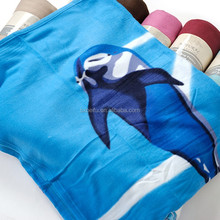 light blue printed with dots 170 gsm with stitching edge polar throw