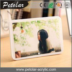 clear and white desktop love magnet 6x8 acrylic photo frame with display rack