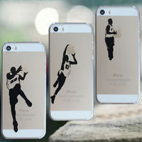 Basketball Jordan Clear TPU Soft Mobile Phone Case Cover For Apple iPhone 6