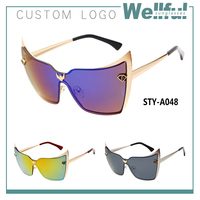 italy design ce luxurious style buffalo horn sunglasses funny for young people