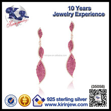 More popular red beautiful earring designs for women