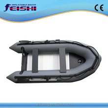 new design high quality 3.8 meters long inflatable boat with Aluminium floor