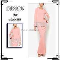 Fashionable latest speical design baju kurung and kebaya 2015
