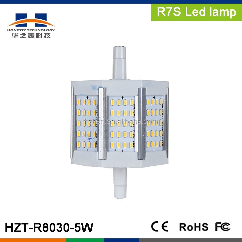 R7S 5W SMD3014 60pcs 400-450LM Warm White LED plug light r7s led 118mm 5w r7s led lamp