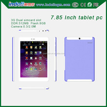 """7.85"""" tablet android 4.4 tablet dual core android tablet support 3G sim card"""