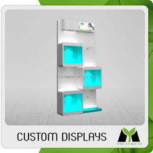 Modern new design promotional led lighting cosmetic display stand