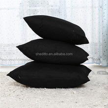 Square cotton canvas solid color classic black customize standard queen king size hotel pillow cover plain cushion
