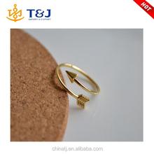 Wholesale Women Fashion Gold Silver Lovely Arrow Open Rings