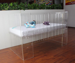 Acrylic Ajustable Clear Baby Cot Prices