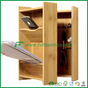 Bamboo wall mounted Bamboo storage organizer for home or office